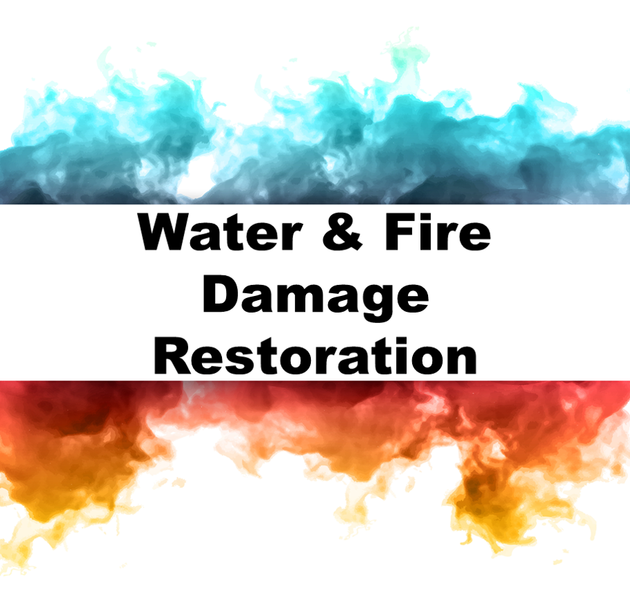 Water and Fire Damage Restoration Logo